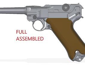 reich 3D model Luger P-08