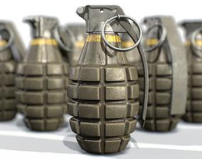 American Frag hand grenade MK2 3D model
