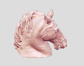 horse head sculptures 3D print model