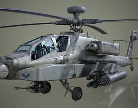 3D model realtime AH-64D Apache Longbow Helicopter