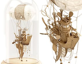 3D model The Captain steampunk sculpture by Daniel Agdag