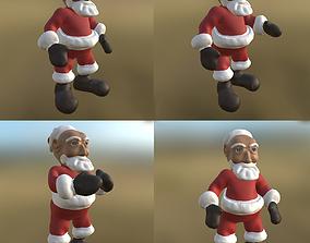 Santa 3 Pose PBR 3D model