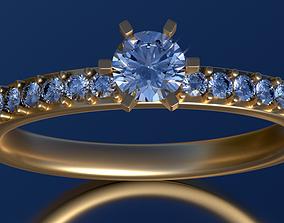 Engagement ring set 0068 3D print model apparel