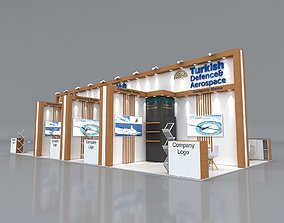 3D model Exhibition Stand 1400x650cm Height 430 cm 4 Side