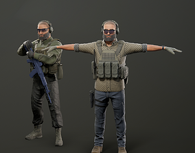Modular PMC Character 3D model