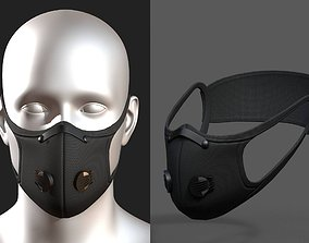 3D model Gas mask fabric futuristic protection