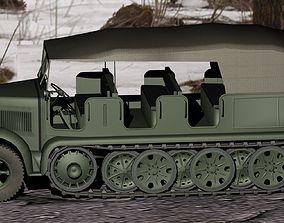 3D model German WWII SdKfz-7 half-track