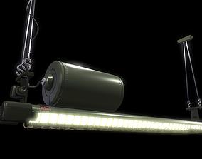 Industrial Fluorescent Light 3D asset