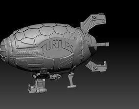 3D print model Turtle Blimp 1987 Ninja Turtles
