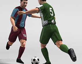 Soccer Player 2011 RIGGED 3D model