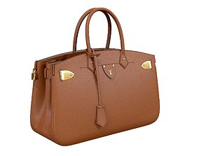 Louis Vuitton bag ALL SET Brown Leather 3D PBR