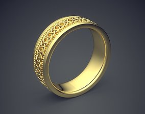 3D printable model Classic Golden Engagement Ring With 2