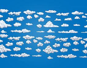 Clouds Cartoon 02 3D model