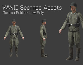 3D model German Soldier Rig - WW2 Scanned Asset Pack