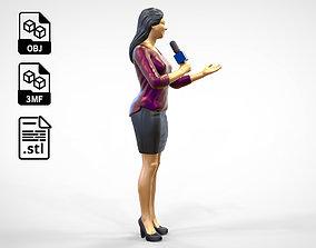 N2 Woman Reporter 3D print model
