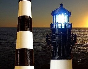 Bodie Island Lighthouse 3D print model