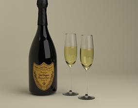 3D Champagne Dom Perignon Charme Vintage 1979 and