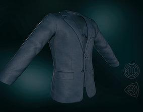 Blue Blazer Jacket 3D asset VR / AR ready