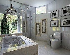 Modern Master bathroom 3D asset