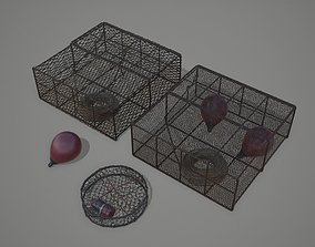3D model Crab and Lobster Traps - PBR and Game Ready