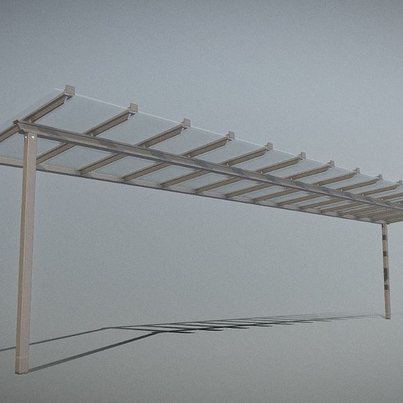 Glass Roof Shelter [3] 10800mm