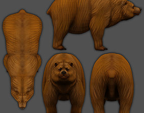 rigged low-poly Bear 3d