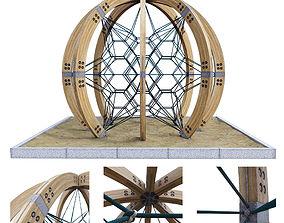modern playground Berliner globe 3D