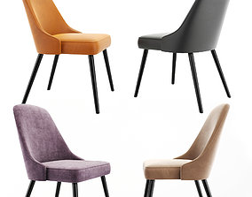 3D model Mid-Century Upholstered Dining Chair