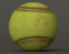 3D model game-ready Tennis Ball