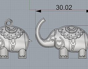 3D print model Elephant Pendant and Bracelet