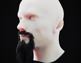 3D asset Beard Low Poly 3