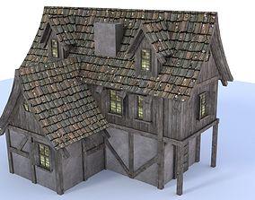 3D asset Medieval city house