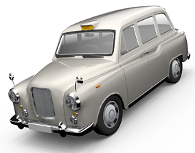 animated London Cab Austin Morris FX4 Taxi 3D model