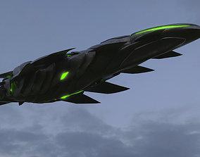 Alien Spaceship 3D model fantastic