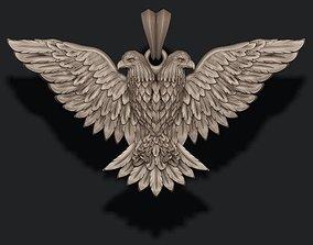 3D printable model two-headed eagle pendant