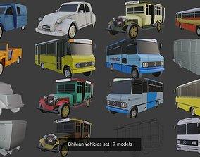 Chilean vehicles set 3D
