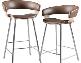 Barstool and Counter Stool Mollie Allermuir 3D model