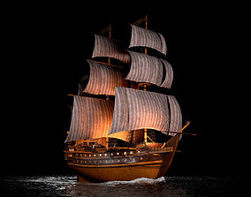 Ship galeon 3D model