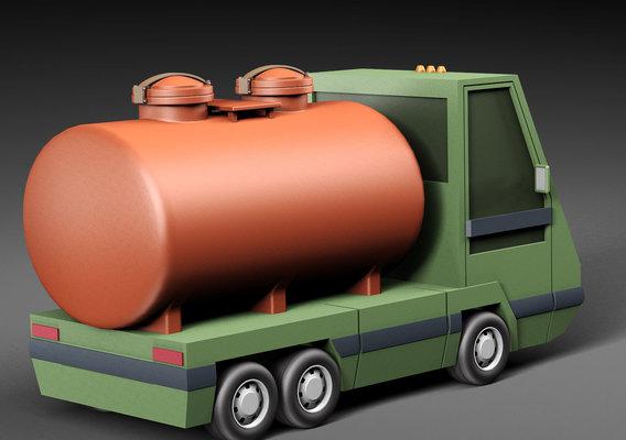 Cartoon car tank