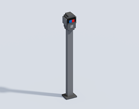 3D asset Voxel Park Penalty Column