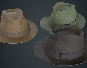 3D asset Fedora Hat 2B