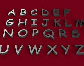 COMIC SANS font uppercase STL file 3D print model