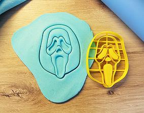 bakery Scream cookie cutter 3D print model