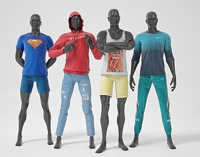 Male mannequins whith clothes STRONG pack 3D