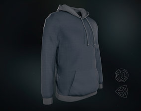 Hoodie 3D asset low-poly
