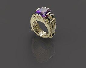 3D print model man gold ring N - 006