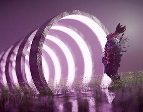 animated Sci-fi Gate way 3D Environment scene