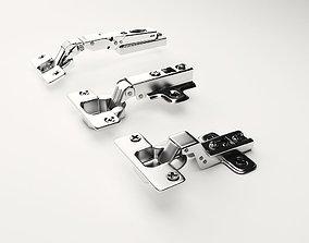 download 3 alloy hinges 3D