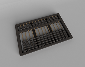3D asset Chinese Abacus v1 001