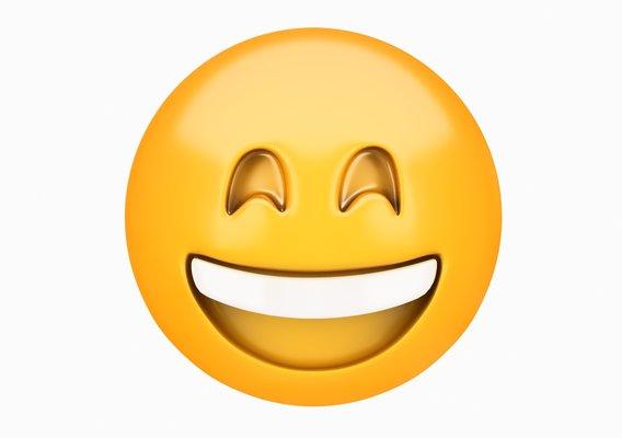 Emoji Grinning Face with Smiling Eyes 3D model